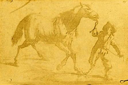 Nicéphore Niépce - Cheval avec son conducteur
