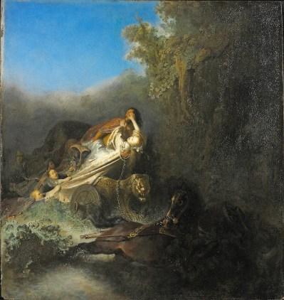 Rembrandt van Rijn - de Roof van Proserpina, Gemäldegalerie Staatliche Museen Berlijn - Preußischer Kulturbesitz