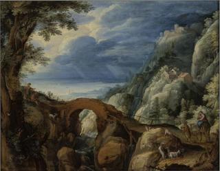 Paul Bril - Landschap met de vlucht naar Egypte (Boijmans)