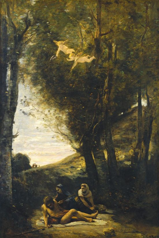 Camille Corot - Sint Sebastiaan