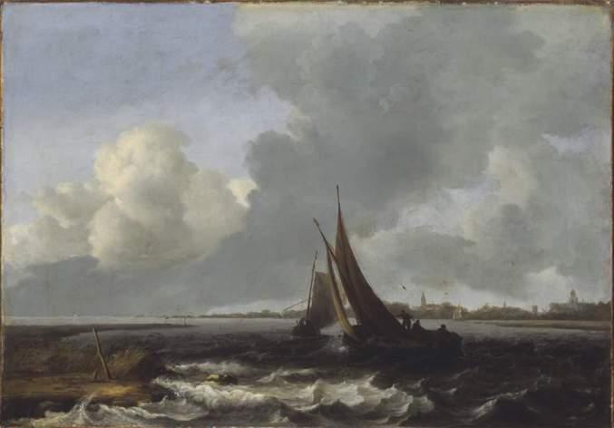 Ludolf Bakhuizen - Woelend Water van het Haarlemmermeer