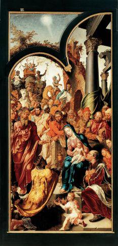 Maarten van Heemskerck - de Aanbidding door de Koningen