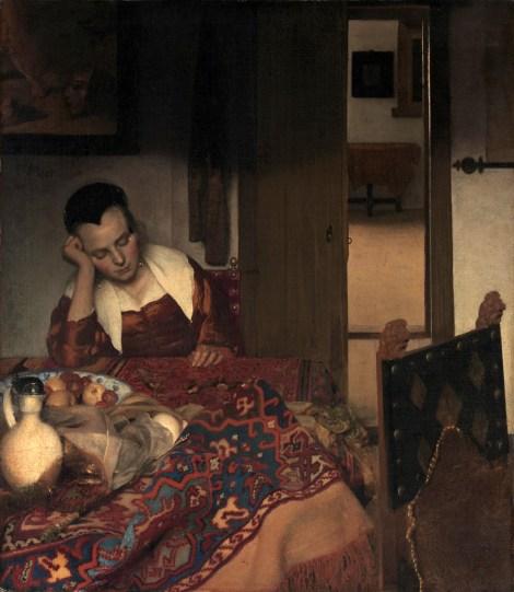 Johannes Vermeer - Slapende jonge vrouw
