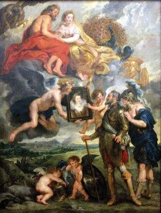Peter Paul Rubens - Henri IV ontvangt Maria' sportret