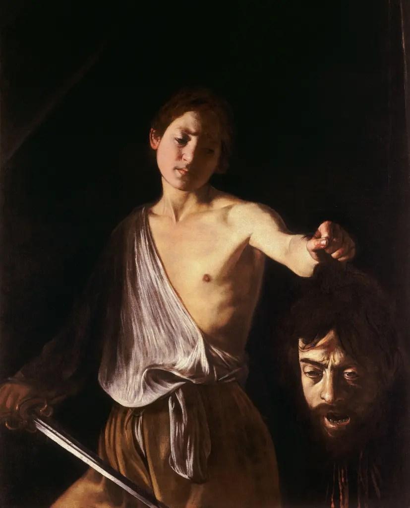 Caravaggio - David en Goliath - Versie Borghese