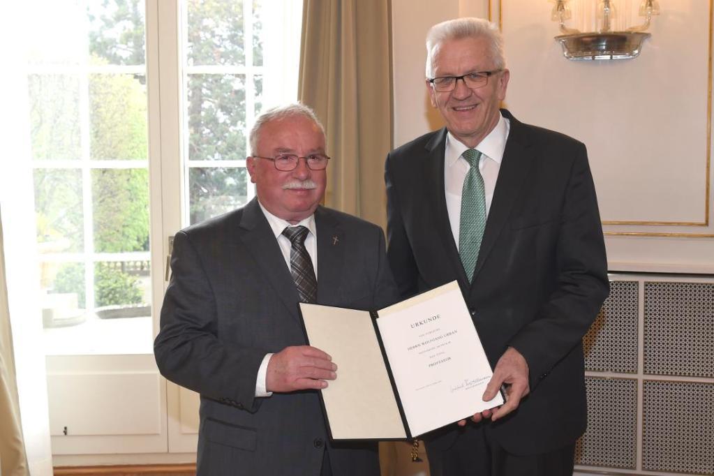 Wolfgang Urban und Winfried Kretschmann, Ministerpräsident von Baden-Württemberg