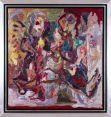 Thomas Gatzemeier_Kleiner Mann was nun 1991 Öl auf Leinwand 85 x 80 cm