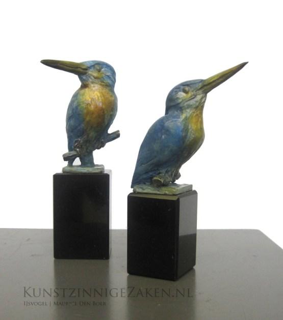 bronzen beeldje ijsvogel