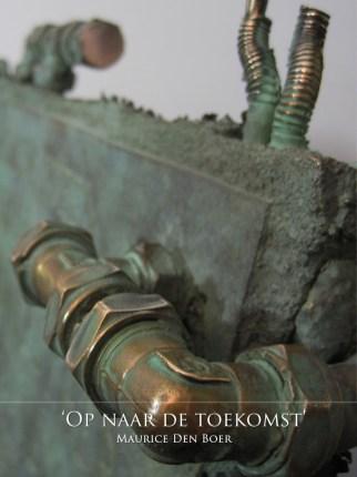 Gevelsteen bronzen beeld Van HoftenBV