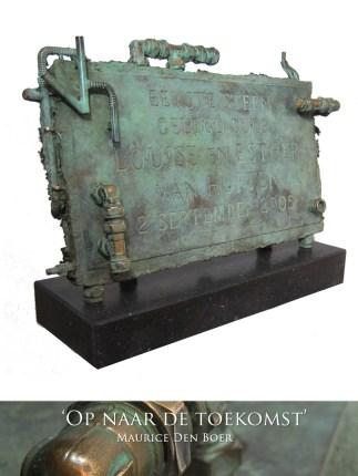 Bronzen gevelsteen in opdracht