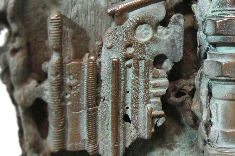 Gevelsteen in brons
