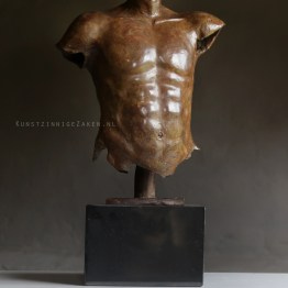 Mannen torso brons
