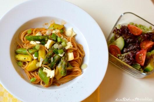 Tomaten Spargel Spaghetti I