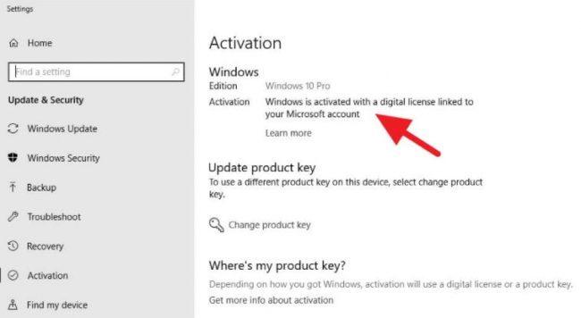 cara mengecek lisensi windows 10