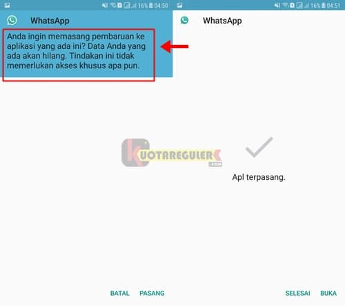 install apk pembaruan whatsapp mod