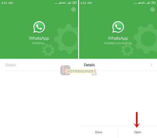 installing whatsapp mod apk