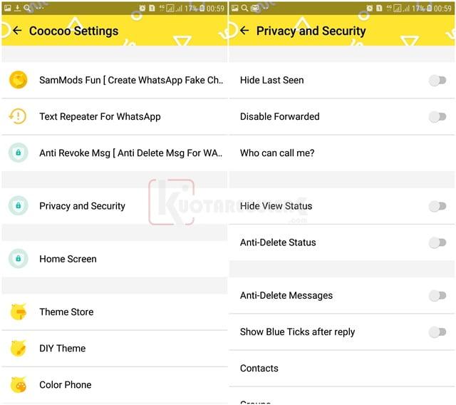 fitur coocoo whatsapp privasi dan keamanan