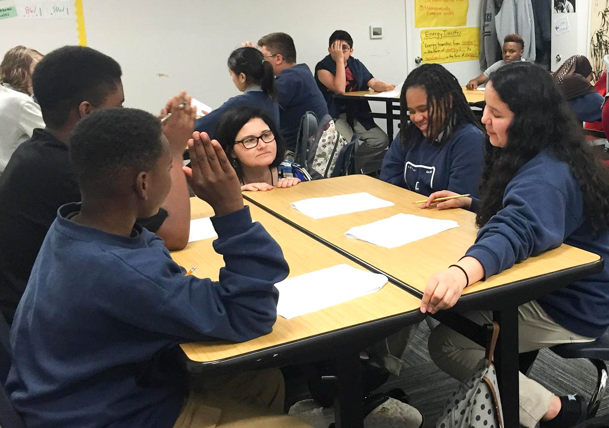 At excel public charter school in kent academic intervention specialist mona swanson works with students also kuow why more black attend schools wa rh