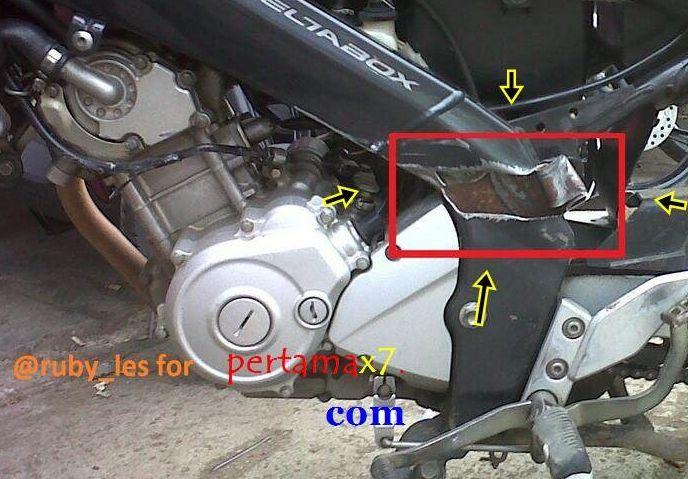 Rangka deltabox untuk motor Yamaha cc kecil kekuatannya