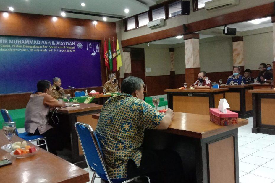 Wakil Bupati Gunungkidul melakukan pertemuan silaturahmi dengan tokoh dan pengurus Pimpinan Wilayah Muhammadiyah (PWM) Yogyakarta