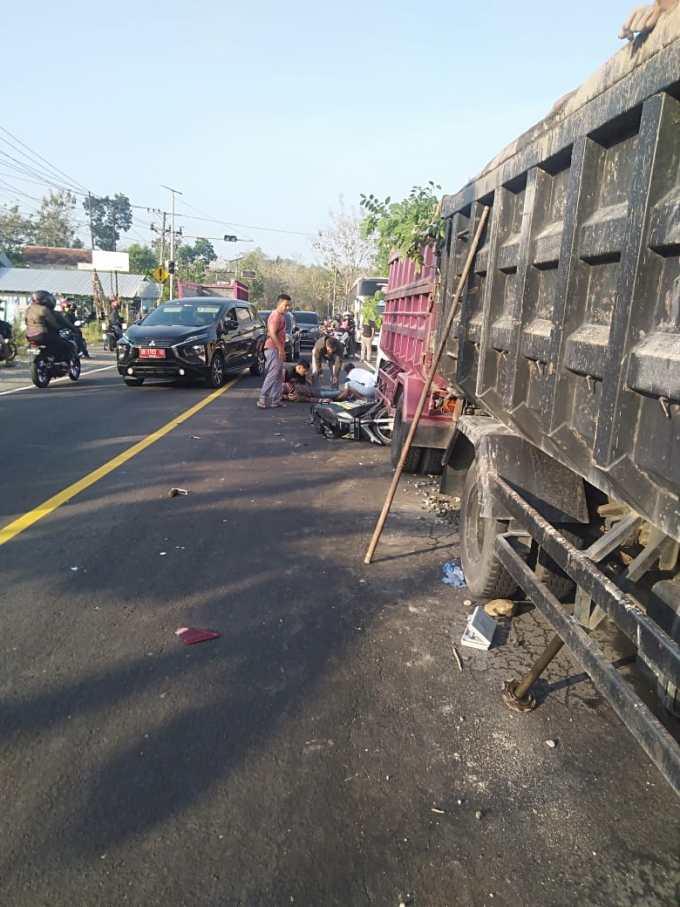 Sepeda motor pasca kecelakaan