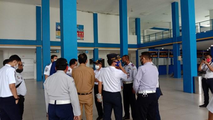 Kunjungan rombongan Kemenhub di Terminal Dhaksinarga