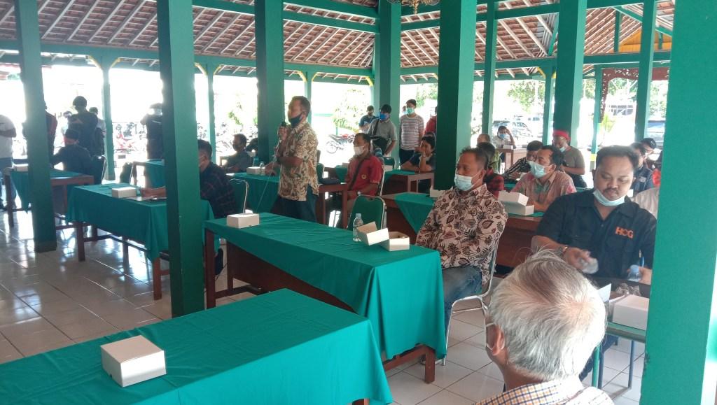 Pertemuan Bupati dan Pokdarwis Goa Pindul