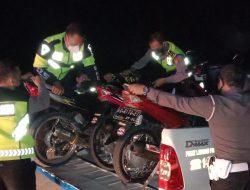 Operasi Gabungan, Polisi Amankan Sejumlah Motor Blombongan di JJLS