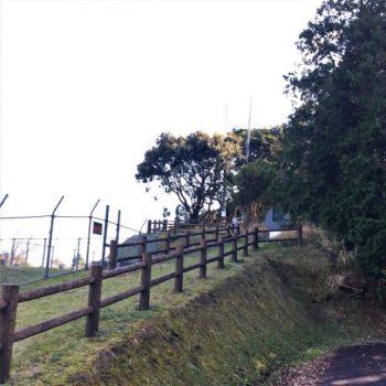 南九州市知覧町に残る「山砲座跡」