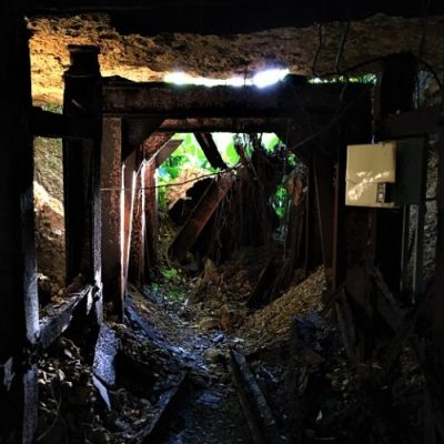 落石で閉ざされた「旧陸軍第24師団第2野戦病院」