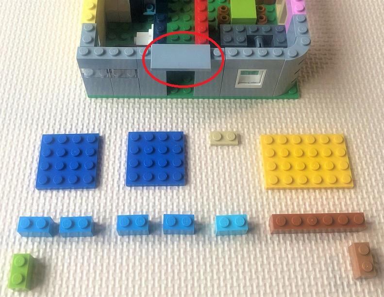 レゴ バルコニーの作り方