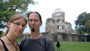 Us in front of the Atomic Bomb Dome