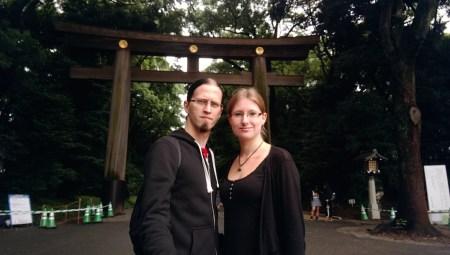 Bianca and Sören in Yoyogi Park