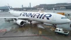 The plane to Helsinki