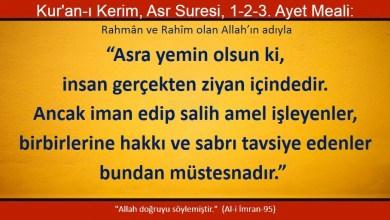 Photo of Asra yemin olsun ki, insan gerçekten ziyan içindedir. Ancak…