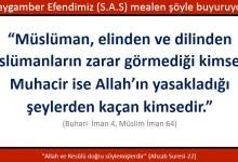 Photo of Müslüman, elinden ve dilinden müslümanların zarar görmediği kimselerdir, muhacir ise Allah'ın yasakladığı şeylerden kaçan kimsedir