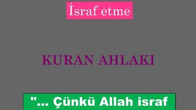 Photo of İsraf etme