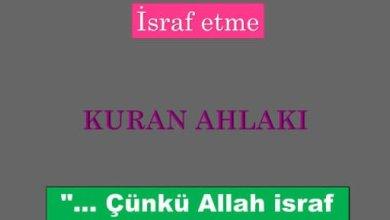 Photo of İsraf etme