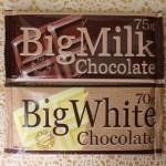 ダイソー購入ビックミルクチョコレートとビックホワイトチョコレートの味とカロリーは?