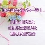母の日のメッセージ例文20