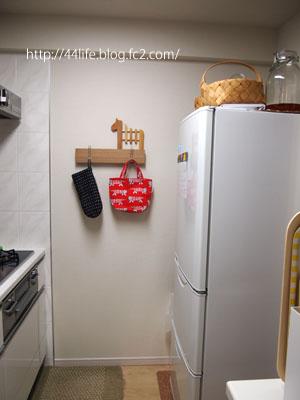 キッチンに長押