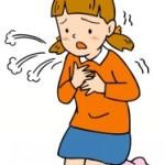 咳こむ女の子
