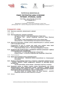 Konferencja szkoleniowa - Krynica 2015 - program