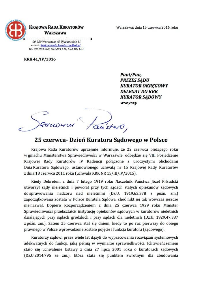 2016.06.18 Dzień Kuratora Sądowego- informacja (1)