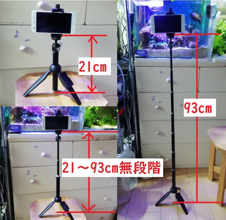 水槽撮影におすすめの自撮り棒を三脚代わりに