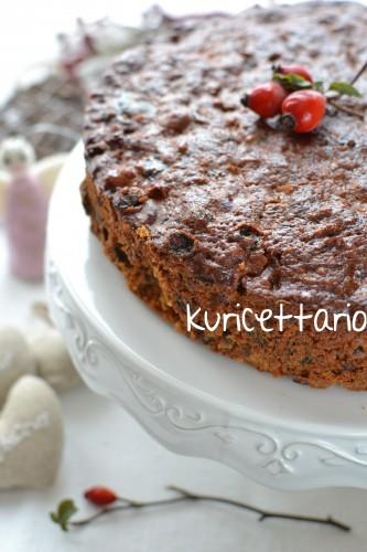ricetta,ricette,christmas cake,torta,natale,uvetta,mandorle,frutta,essiccata,pasta di zucchero,regalo,dolce