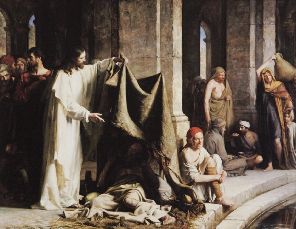 Carl Bloch: uzdrowienie przy sadzawce Bethesda