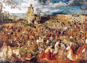 """u Pieter Breugel Starszy, """"Droga Krzyżowa""""."""