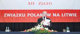 Zdecydowaną większością głosów – 477 z 479 – delegaci XII Zjazdu ZPL wybrali Michała Mackiewicza na prezesa organizacji na kolejną kadencję Fot. Marian Paluszkiewicz