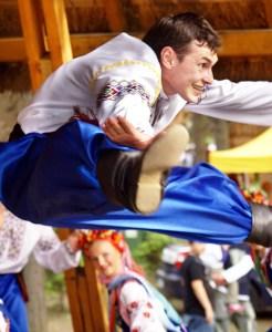 Popis akrobatyczny tancerza z Ukrainy Fot. Sylwester Marchewka
